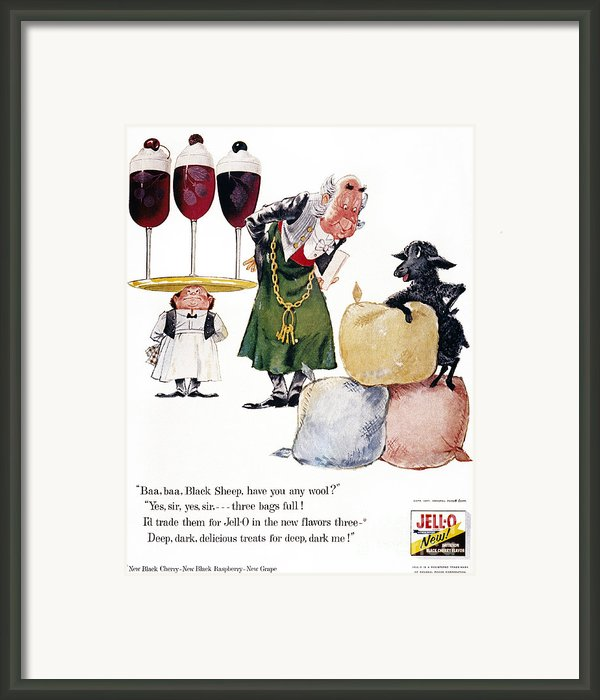 Jell-o Advertisement, 1957 Framed Print By Granger