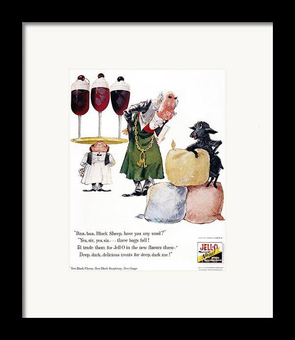 Jell-o Advertisement, 1957 Framed Print By Granger