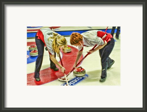 Jennifer And Dawn Framed Print By Lawrence Christopher