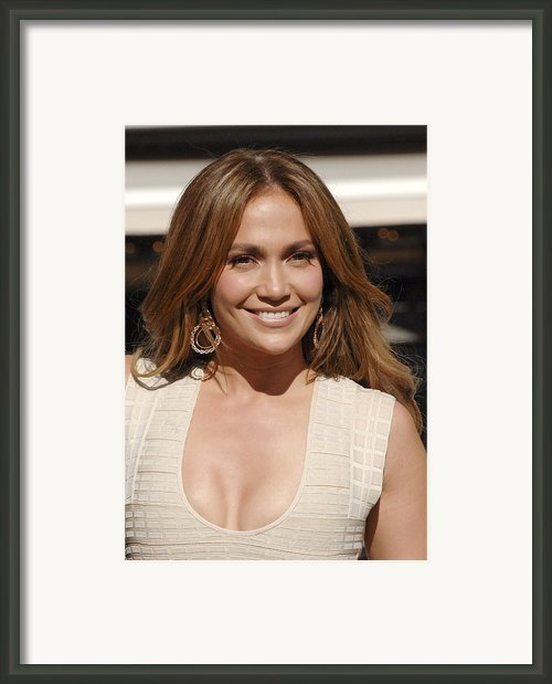 Jennifer Lopez At The Press Conference Framed Print By Everett