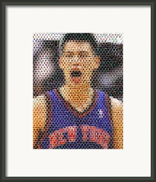 Jeremy Lin Mosaic Framed Print By Paul Van Scott