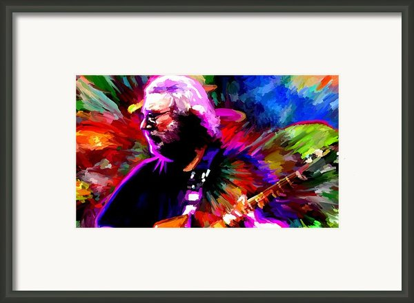 Jerry Garcia Grateful Dead Signed Prints Available At Laartwork.com Coupon Code Kodak Framed Print By Leon Jimenez