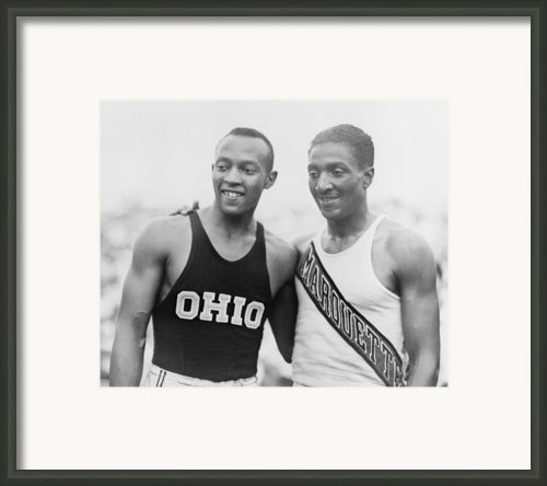 Jesse Owens 1913-1980 With Ralph Framed Print By Everett