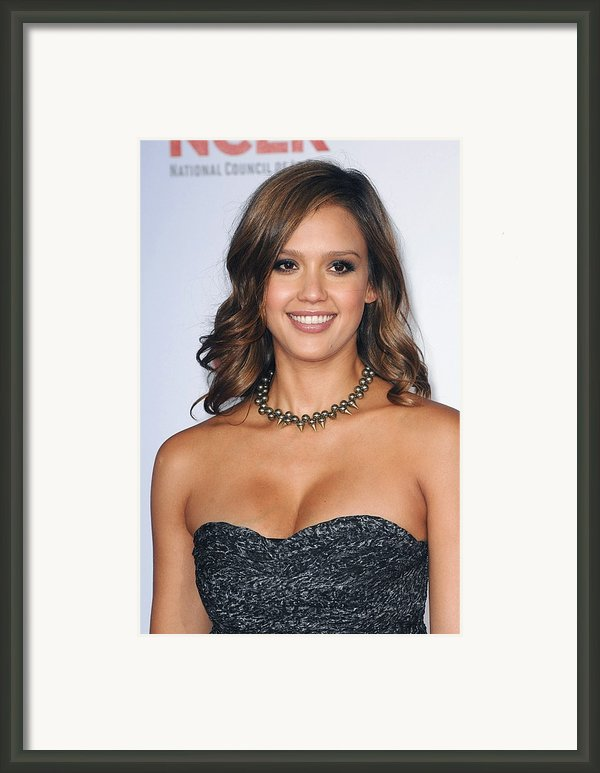 Jessica Alba At Arrivals For 2011 Nclr Framed Print By Everett