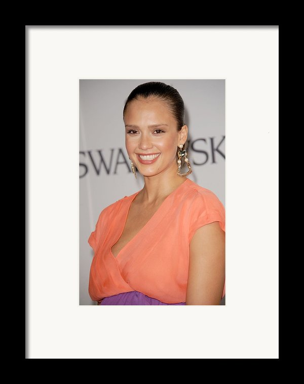 Jessica Alba At Arrivals For The 2011 Framed Print By Everett