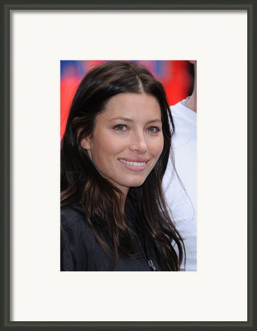 Jessica Biel At A Public Appearance Framed Print By Everett