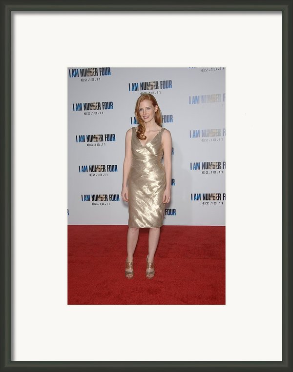 Jessica Chastain At Arrivals For I Am Framed Print By Everett