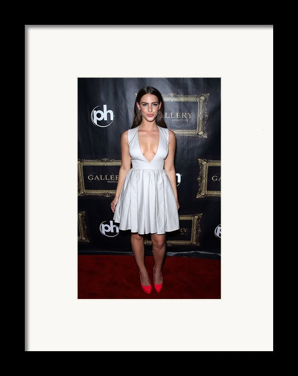 Jessica Lowndes At Arrivals For Jessica Framed Print By Everett