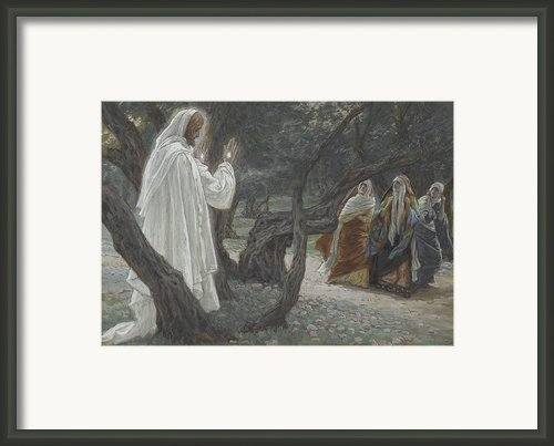 Jesus Appears To The Holy Women Framed Print By Tissot