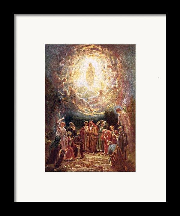 Jesus Ascending Into Heaven Framed Print By William Brassey Hole