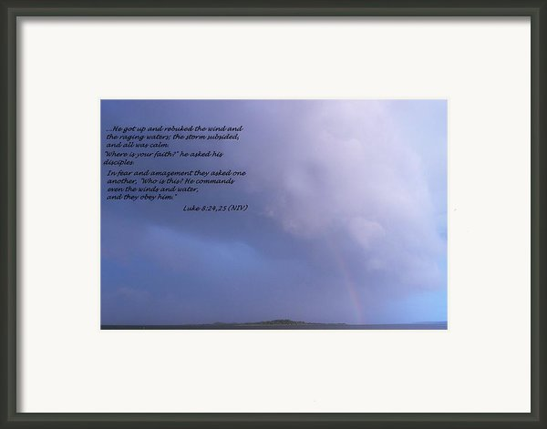 Jesus Calms The Storm Framed Print By Sheri Mcleroy