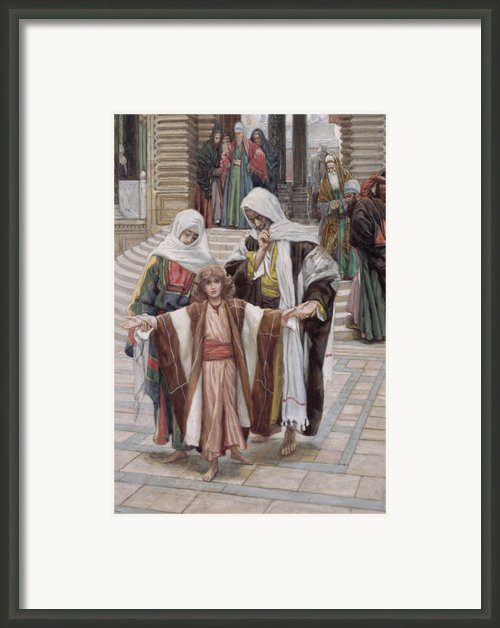 Jesus Found In The Temple Framed Print By Tissot