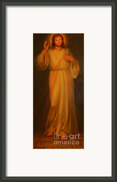 Jesus I Trust In You - Jesus Christ Of Nazareth Framed Print By Lee Dos Santos