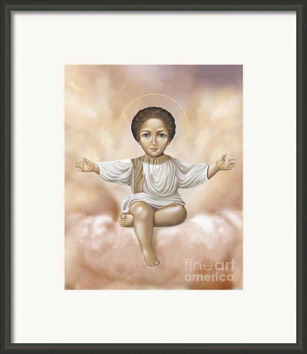 Jesus In Clouds Framed Print By Lyubomir Kanelov