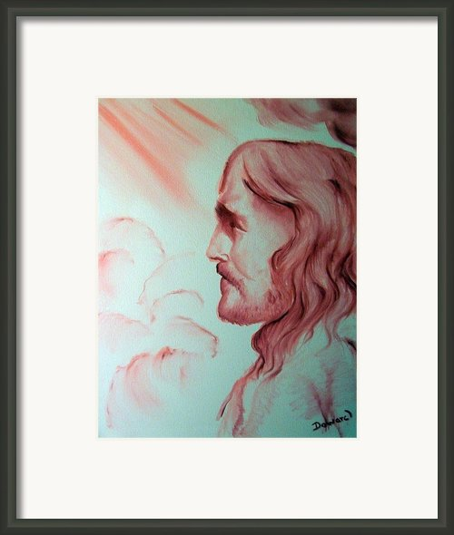 Jesus In His Glory Framed Print By Raymond Doward