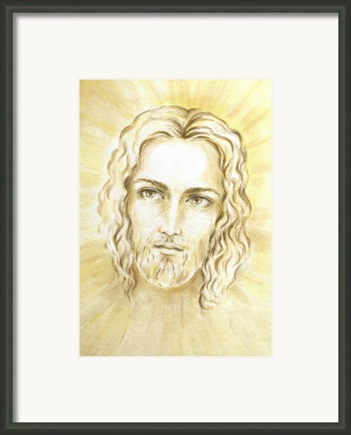 Jesus In Light Framed Print By Stoyanka Ivanova