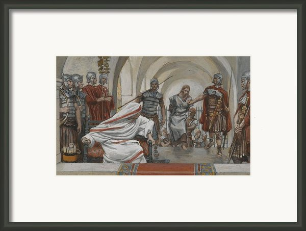 Jesus Led From Herod To Pilate Framed Print By Tissot