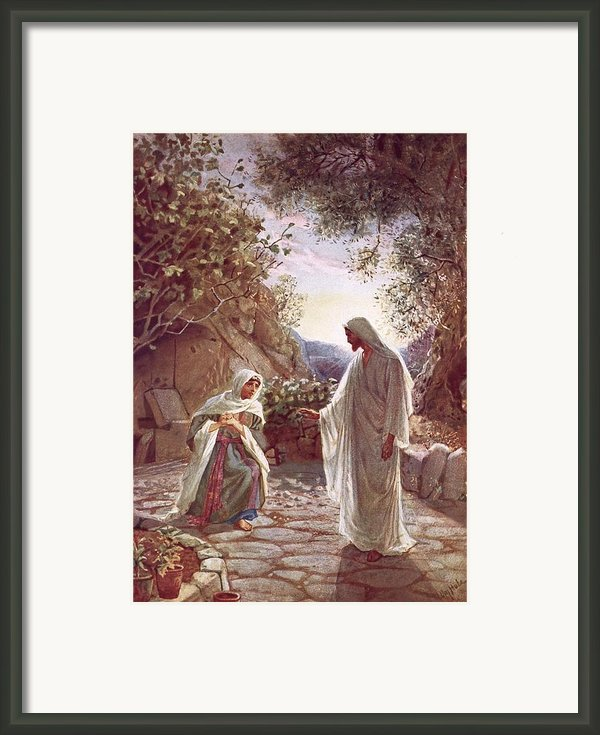 Jesus Revealing Himself To Mary Magdalene Framed Print By William Brassey Hole