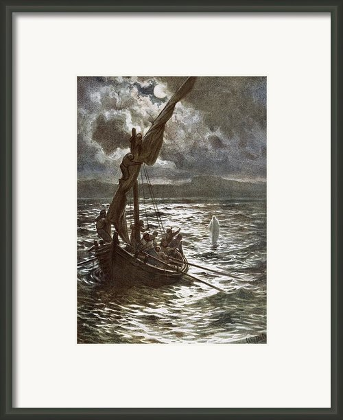 Jesus Walking Upon The Sea Framed Print By William Brassey Hole