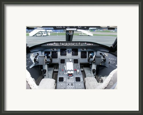 Jet Airplane Cockpit Framed Print By Jaak Nilson
