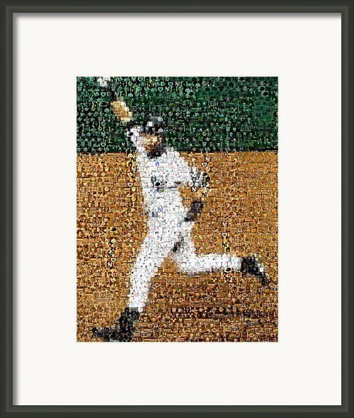 Jeter Walk-off Mosaic Framed Print By Paul Van Scott