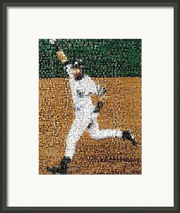 Jeter Walk-off Mosaic Framed Print By Paul Van Scott