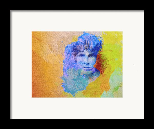 Jim Morisson Framed Print By Naxart Studio