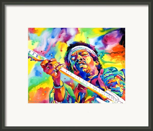 Jimi Hendrix Electric Framed Print By David Lloyd Glover
