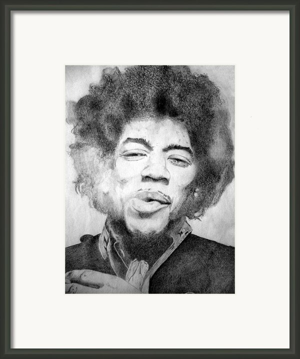 Jimi Hendrix - Medium Framed Print By Robert Lance