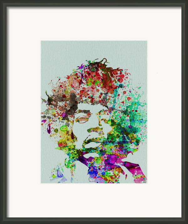 Jimmy Hendrix Watercolor Framed Print By Irina  March