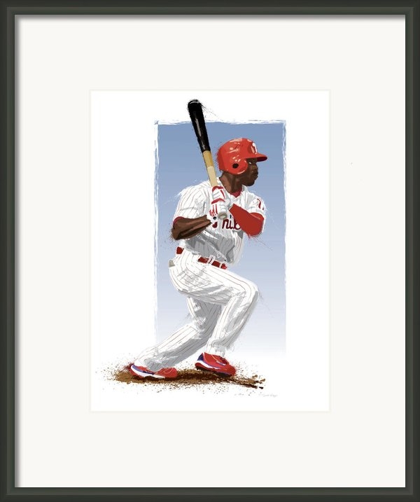 Jimmy Rollins Framed Print By Scott Weigner