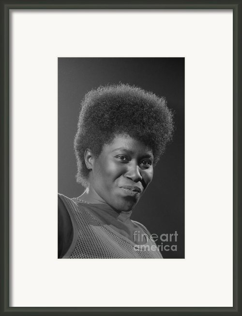 Joan Armatrading 4 Framed Print By Philippe Taka