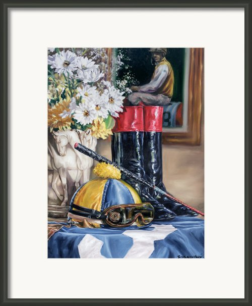 Jockey Still Life Framed Print By Thomas Allen Pauly
