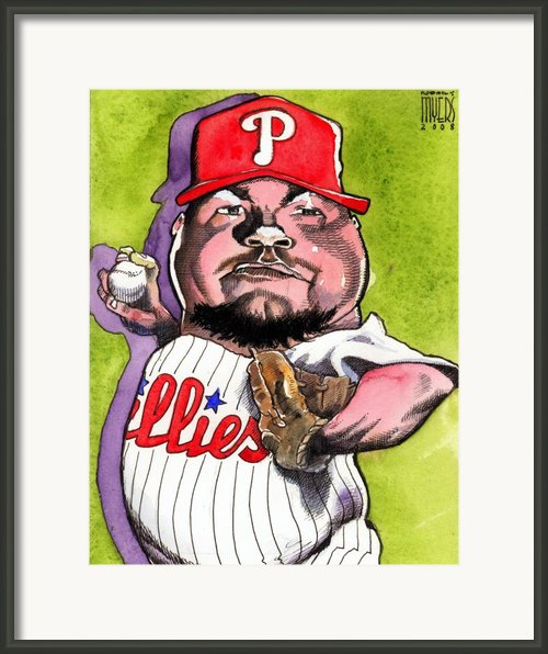 Joe Blanton -phillies Framed Print By Robert  Myers