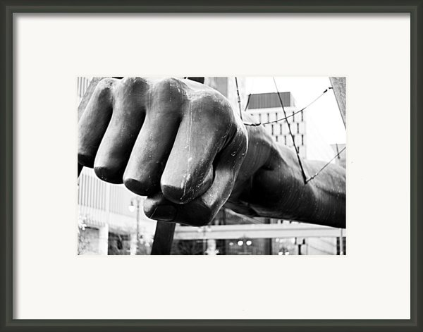 Joe Louis Fist - Detroit Framed Print By Alanna Pfeffer
