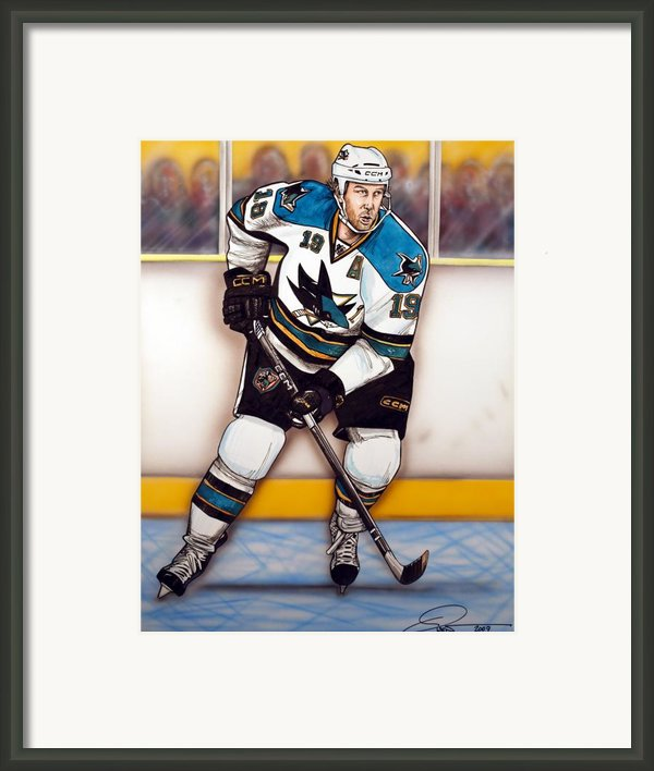 Joe Thornton San Jose Sharks Framed Print By Dave Olsen