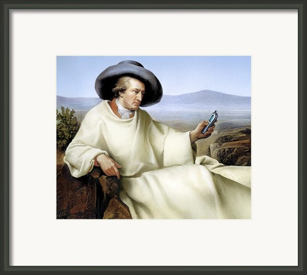 Johann Von Goethe, German Author Framed Print By Smetek