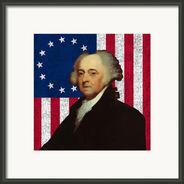 John Adams And The American Flag Framed Print By War Is Hell Store