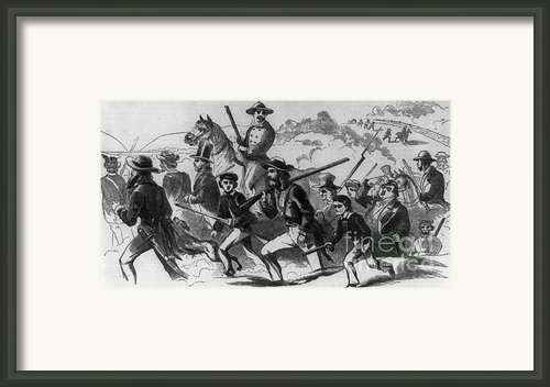 John Browns Raid Framed Print By Photo Researchers