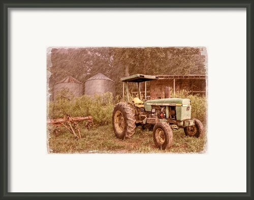 John Deere Antique Framed Print By Debra And Dave Vanderlaan