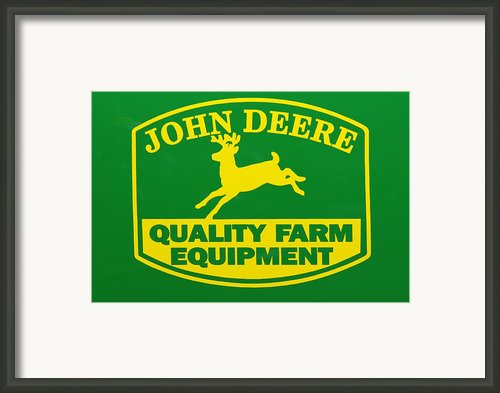 John Deere Farm Equipment Sign Framed Print By Randy Steele