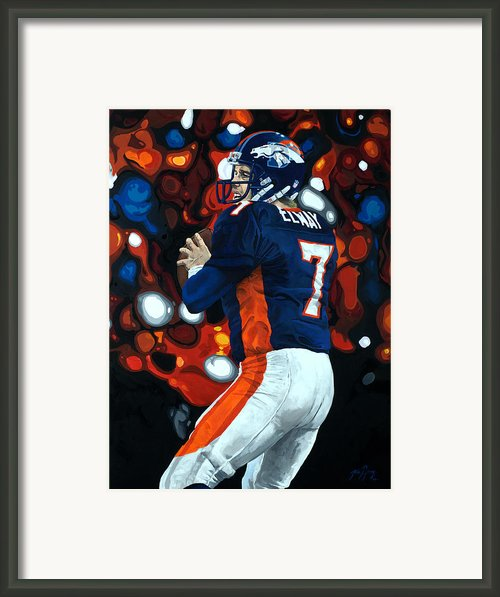 John Elway - Legacy Framed Print By Mike Lorenzo