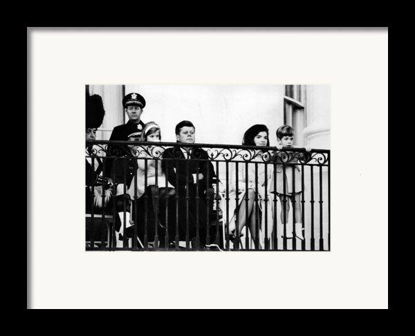 John F. Kennedy Jr. Gets A Closer Look Framed Print By Everett