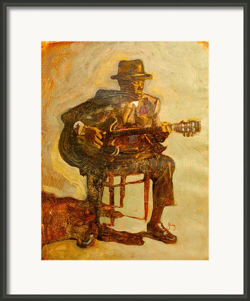 John Lee Hooker Framed Print By Michael Facey