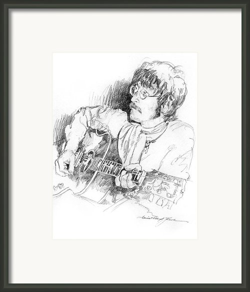 John Lennon Framed Print By David Lloyd Glover