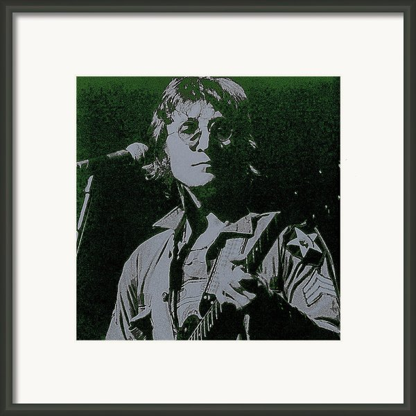John Lennon Framed Print By David Patterson