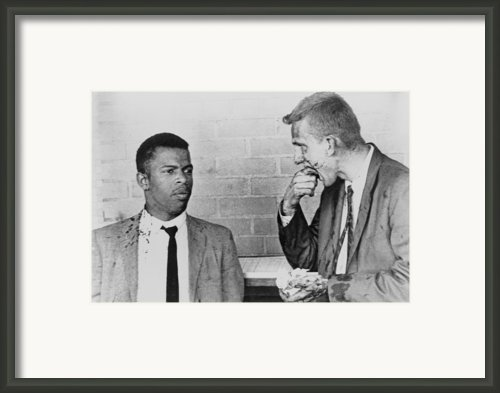 John Lewis Talks With Fellow Freedom Framed Print By Everett