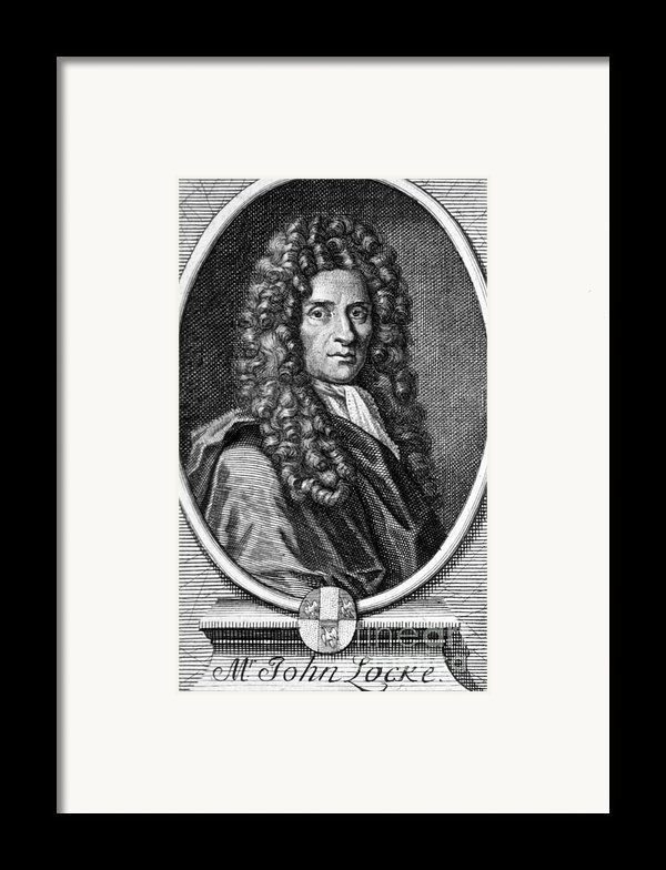 John Locke, English Philosopher, Father Framed Print By Science Source
