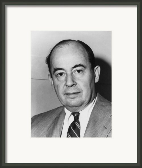 John Von Neumann 1903-1957 Framed Print By Everett