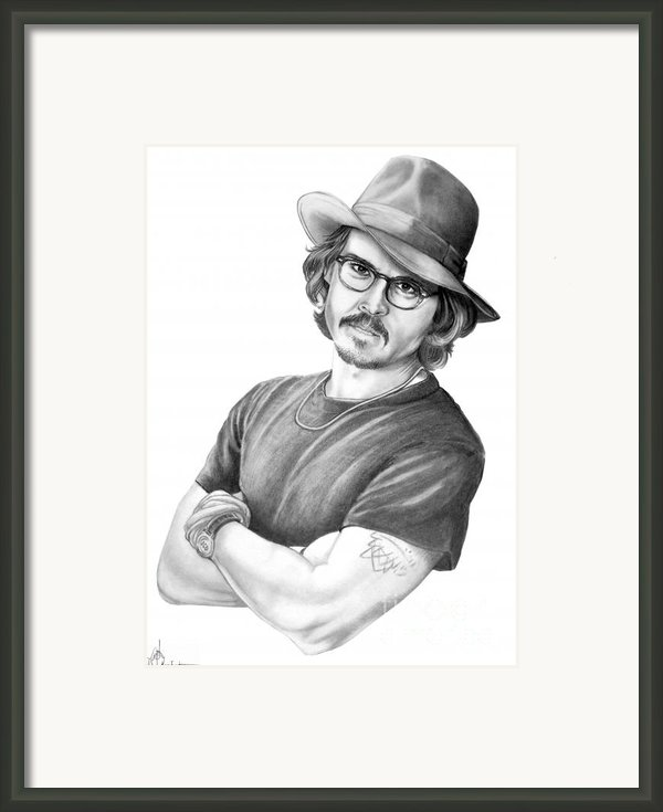 Johnny Depp Framed Print By Murphy Elliott